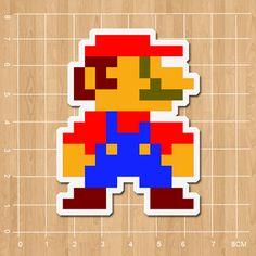 Nintendo games Super Mario Notebook/refrigerator/skateboard/trolley case/backpack/Tables/book sticker PVC sticker