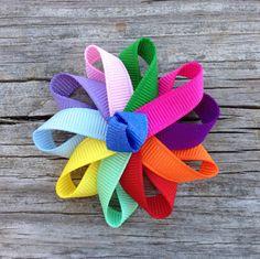 Girl Scout Daisy Ribbon Sculpture Hair Clip  Girls por leilei1202