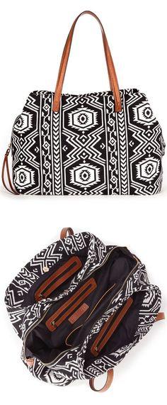 Tribal Handbag | Black & White
