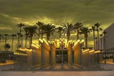 Urban Light at the Los Angeles County Museum of Art by Menetnashté,