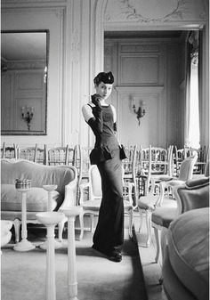 House of Dior-Smoking Model in Grand Salon