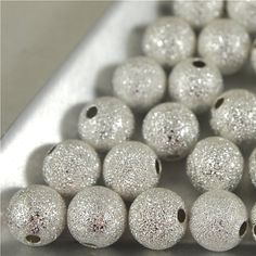 10 mm Silver Stardust BeadsQty 20 MW 10R ST by SuppliedByLightness, $3.99 Jewelry Making Supplies, My Etsy Shop, Beads, Silver, Beading, Bead, Pearls, Seed Beads, Loom Beading