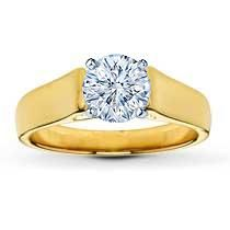 The yellow gold band gently flairs on either side of the center of this beautiful ring setting for her. Choose your own diamond (size and cut). Solitaire Setting, Solitaire Ring, Jared Engagement Rings, Kay Jewelers, Diamond Sizes, Beautiful Rings, Product Description, Band, Proposal