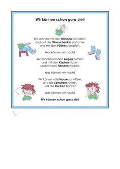 Kigaportal_Kindergarten_wir koennen schon ganz viel - New Sites Kindergarten Activities, Activities For Kids, Preschool, Kindergarten Portfolio, Kids Corner, Kids And Parenting, Lessons For Kids, Language, Teaching