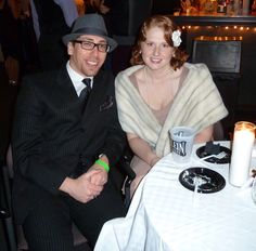 Anthony & Alexandra Muserallo at Know Theatre's NYE Speakeasy Party Speakeasy Party, Party Pictures, Cultural Events, Nye, Culture, Coat, Fashion, Moda, Sewing Coat