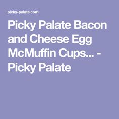 Mcmuffin, Bacon egg and cheese and Egg and cheese on Pinterest