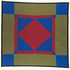 Diamond in the Square Quilt by Rebecca Fisher Stoltzfus, 1903