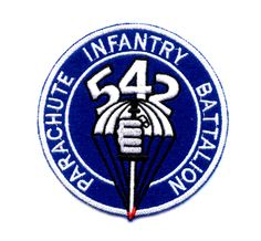 542nd Parachute Infantry Battalion Patch  United States Army 542nd Parachute Infantry Battalion military patch