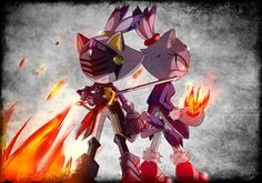Blaze and Sir Percival. This art is amazing!