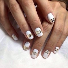 Accurate nails, Evening nails, Exquisite nails, Gold casting nails design…
