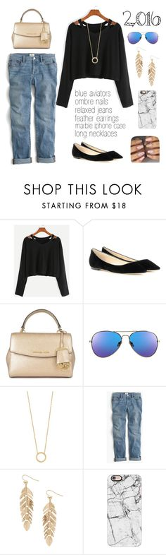 """""""2016 Fashion Trend"""" by deloom ❤ liked on Polyvore featuring Jimmy Choo, MICHAEL Michael Kors, Jennifer Zeuner, J.Crew, Humble Chic and Casetify"""