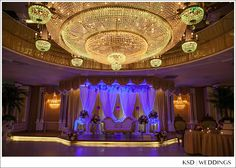 Stunning setup in the Grand Ballroom. Photography by KSD Weddings
