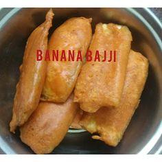 Banana Bajji   Vazhakkai Bajji Veg Recipes Snacks, Raw Banana, Rice Flour, Cooking Tips, Baking Soda, Breakfast, Food, Morning Coffee, Essen