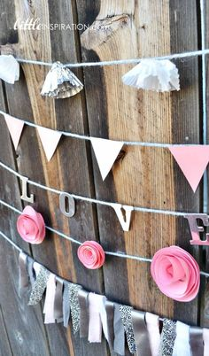 garlands made with cupcake liners