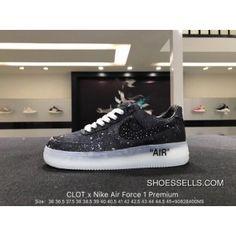6cda0ec1953dc CLOT X Nike Air Force 1 Premium OFF SKU AQ9286-101 Black Men Running Shoes