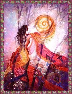 Earth Goddess contacting the spirits. ❤❦♪♫