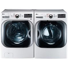 5.2 cu. ft. Front Load Washer w/Steam & 9.0 cu. ft. Dryer w/TrueSteam™ – White