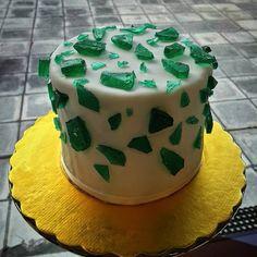 cake, crystals, green, sugar, fondant, sweet, shine,
