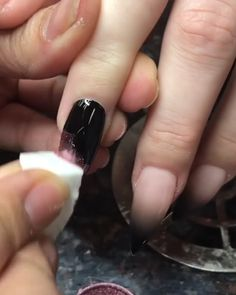 18 How to Get a Blue Gingham Nail Manicure Körmök Dope Nails, My Nails, Nails Inc, Gorgeous Nails, Pretty Nails, Nail Manicure, Nail Polish, Nail Art Videos, Nagel Gel