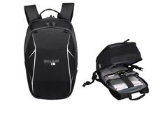 A Semi Rigid #SHAD #Backpack with adjustable cushioned straps, padded compartment to store laptop, helmet, and other reflective elements to increase security.  #MotozielRetail #OnlineShopping #OnlineStore #Shopping #Travel #Luggage #Bags #MotorcycleLuggage #TouringLuggage #TouringBags #TravelBags #LuxuryLuggage #LuxuryBags