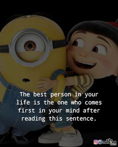 Minion Rock, Minion Meme, Minions Quotes, Amazing Quotes, Love Quotes, Best Friendship Quotes, Funny Cute, Sentences, Funny Memes