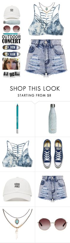 """""""ouTDooR CoNCeRT"""" by brie-the-pixie ❤ liked on Polyvore featuring Urban Decay, S'well, RVCA, Converse, Accessorize, Chloé, polyvorecontest, 60secondstyle and outdoorconcerts"""