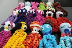 Crochet Octopus: Models That Soothe Premature Babies Crochet Fish, Crochet Octopus, Tunisian Crochet, Cute Crochet, Crochet For Kids, Crochet Baby, Octopus Colors, Bunny Blanket, Baby Octopus