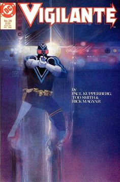 Vigilante #28 painted covers by Bill Sienkiewicz