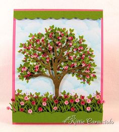 KC Impression Obsession Tree, great how-to pics; wow, Kittie called this a labor of love, she wasn't kidding! Flowers For You, Leaf Flowers, Paper Flowers, Impression Obsession Cards, Paper Art, Paper Crafts, Card Making Designs, Hydrangea Not Blooming, Small Leaf