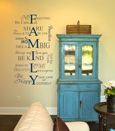 This Family Values Wall Decal is perfect for my house. My family is so goofy and fun, but we love and respect each other so much!  from www.tradingphrases.com