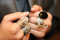 Stylish women wear tons of rings