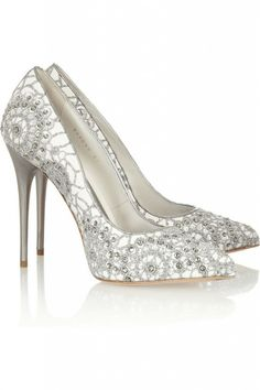 #Crystal-embellished #embroidered #suede #pumps - Fashion Jot- Latest Trends of Fashion