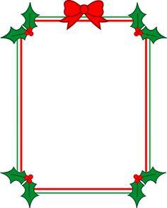 printable christmas borders for word documents