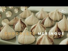초콜릿 머랭쿠키 만들기 : Chocolate Meringue Cookies Recipe - Cooking tree 쿠킹트리*Cooking ASMR - YouTube