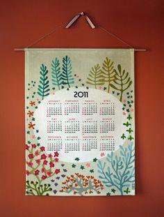 I LOVED THIS CALENDAR. 2011 Tea Towel Calendar from Cicada Studio.