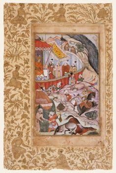 Disease at Qaba Disables the Horses in 1496, Folio from a Baburnama