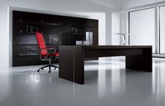 Wood Panel Walls, Wood Wall, Glass Shelves, Office Furniture, Corner Desk, Chair, Table, Wall Panelling, Design