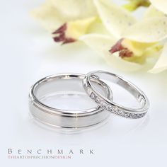 Follow @benchmarkrings to see more content! #benchmarkretailer #benchmarkwk8  Benchmark Style #: (L to R) RECF7602SW & 513522W.