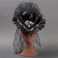 Victorian tulle hat, for Victorian literary dinner