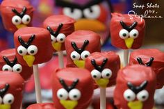 My angry bird marshmallow pops turned out cute!! Super easy too! :)