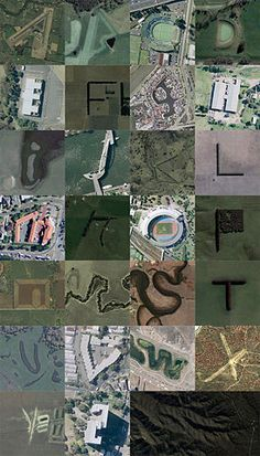 Aerial alphabets  God's design!