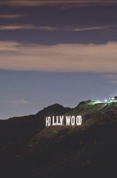 The Hollywood sign on Mount Lee.