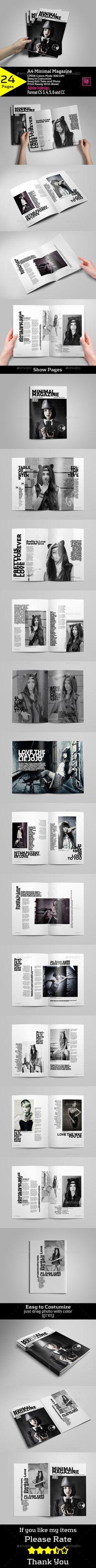 A4 Minimal Magazine - Magazines Print Templates