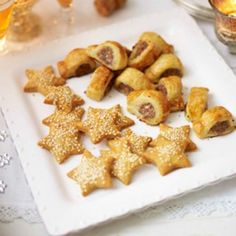 Cheese star biscuits recipe. Christmas biscuits don't have to be sweet - if you're entertaining and looking for savoury bites, then try these festive cheese biscuits - they're ridiculously moreish!