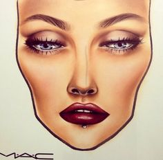 Mac face chart im obsessed