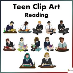 Make your Reading resources come to life with our Teen Reading Clip art.Excellent to have for high school resources especially those who create resources Reading Resources, School Resources, Reading Strategies, Teacher Resources, Classroom Resources, Classroom Ideas, Classroom Displays, Classroom Organization, Classroom Management