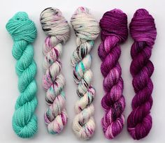 So Faded MINI SET hand dyed yarn gray-blue-purple Blue Grey, Gray, Hand Dyed Yarn, All The Colors, Color Schemes, Stitch, Purple, Mini, Projects