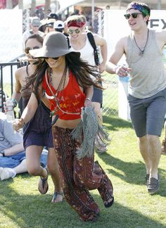 2011: Runs while Josh Hutcherson tags along behind her: