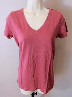 MAJESTIC PARIS Linen Stretch Arizona Red Manches Courtes T Shirt NEW 1, 2 & 3 #Majestic #BasicTee