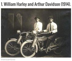 "william harley and arthur davidson, 1914 (does ""harley- davidson"